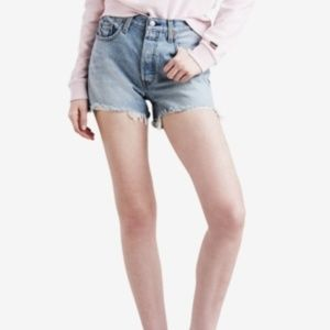 LEVI'S® 501 High Rise Denim Light Blue Jean Shorts